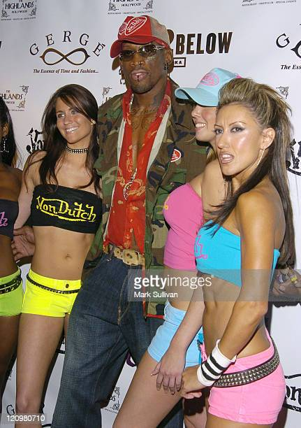Dennis Rodman during Dennis Rodman's 43rd Birthday Party at The Highlands in Hollywood, California, United States.