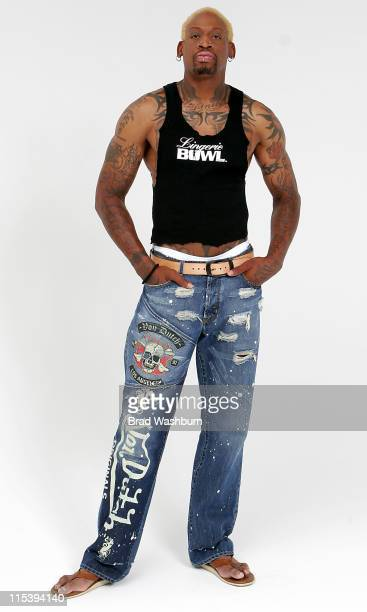 Dennis Rodman during Lingerie Bowl 2006 Photoshoot with Dennis Rodman and Jose Canseco at Lingerie Bowl 2006 Photoshoot in Long Beach California...