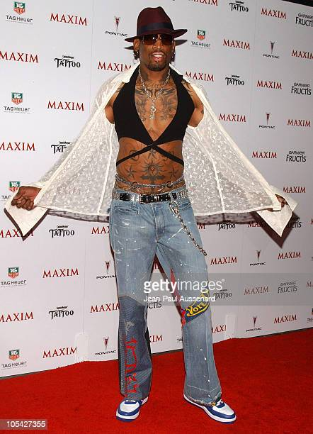 Dennis Rodman during Maxim Magazine's Hot 100 Arrivals at Montmartre Lounge in Hollywood California United States