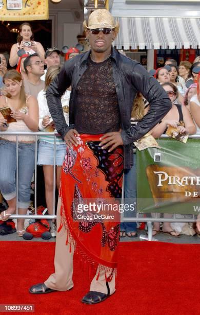 "Dennis Rodman during World Premiere of Walt Disney Pictures' ""Pirates of the Caribbean: Dead Man's Chest"" - Arrivals at Disneyland in Anaheim,..."