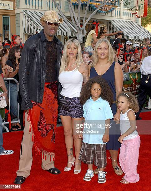 "Dennis Rodman during World Premiere of Walt Disney Pictures' ""Pirates of the Caribbean: Dead Man's Chest"" - Arrivals at Disneyland in Anaheim,..."