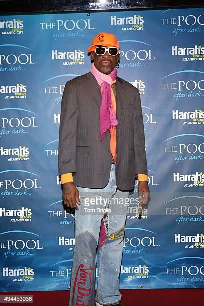 Dennis Rodman hosts The Pool After Dark at Harrah's Resort on Saturday October 24 2015 in Atlantic City New Jersey