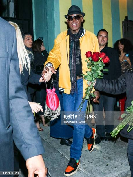 Dennis Rodman is seen on February 06 2020 in Los Angeles California