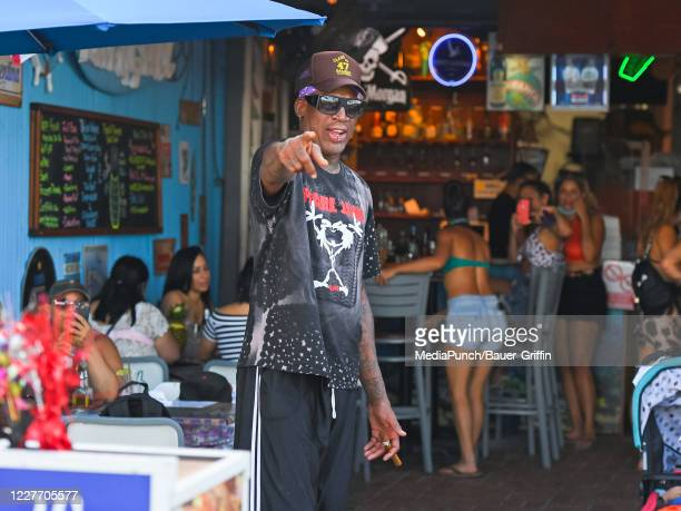 Dennis Rodman is seen on July 19 2020 in Hollywood Florida