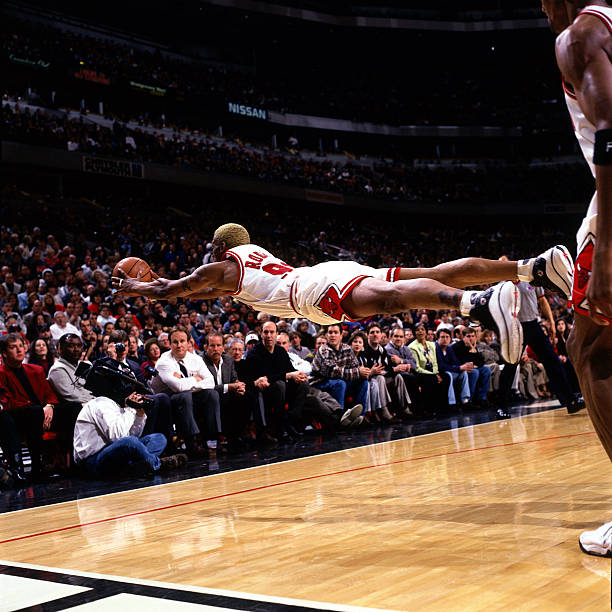 Dennis Rodman of the Chicago Bulls