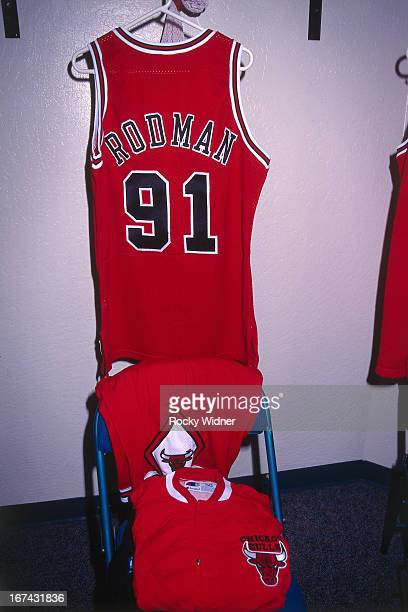 wholesale dealer 78e8f 06f03 Dennis Rodman Bulls 1996 Pictures and Photos - Getty Images