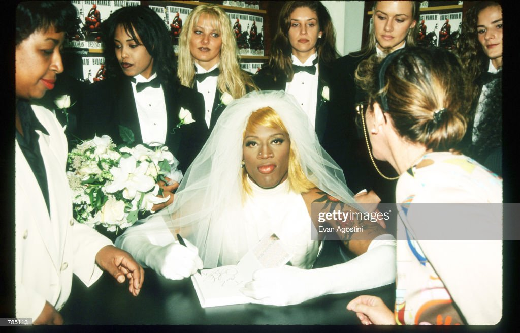 Dennis Rodman Signs His Autobiography August 21 1996 In New York City Arrived