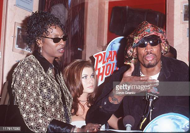 Dennis Rodman Sister Carmen Electra during Dennis Rodman Press Conference at Planet Hollywood in Beverly Hills California United States
