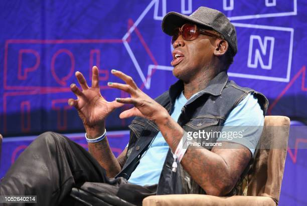 Dennis Rodman speaks onstage during Politicon 2018 at Los Angeles Convention Center on October 20, 2018 in Los Angeles, California.