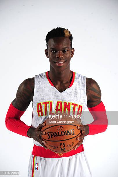 Dennis Schroder of the Atlanta Hawks poses for a portrait during the 20162017 Atlanta Hawks Media Day on September 26 2016 at The W Hotel in Atlanta...