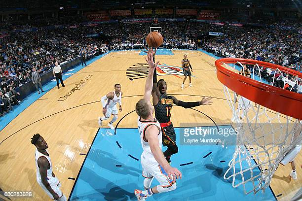 Dennis Schroder of the Atlanta Hawks shoots the ball against the Oklahoma City Thunder during the game on December 19 2016 at Chesapeake Energy Arena...