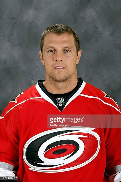 Dennis Seidenberg of the Carolina Hurricanes poses for his 2007 NHL headshot at photo day in Raleigh North Carolina