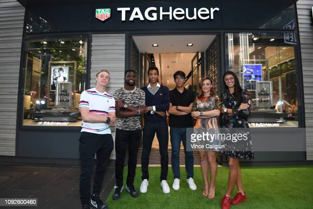 Dennis Shapovalov of Canada Frances Tiafoe of United States Félix Auger Aliassime of Canada Chung Hyeon of South Korea Ana Bogdan of Romania and...