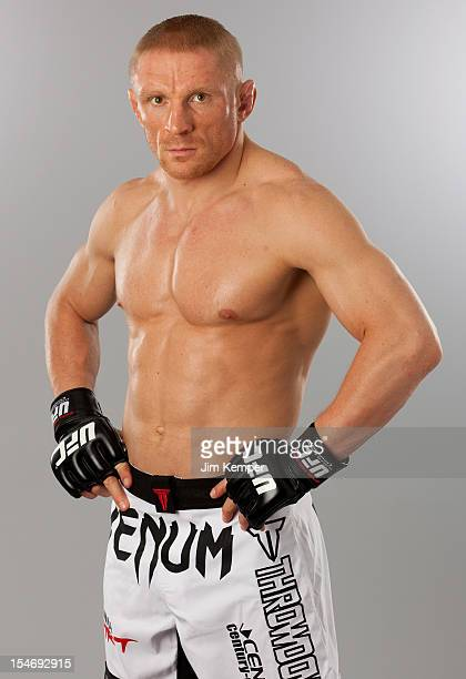 Dennis Siver poses for a portrait on April 11 2012 in Stockholm Sweden