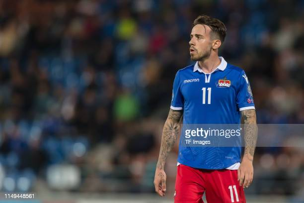 Dennis Slanovic of Liechtenstein looks on during the UEFA Euro 2020 Qualifier match between Liechtenstein and Finland at Rheinpark Stadion on June...