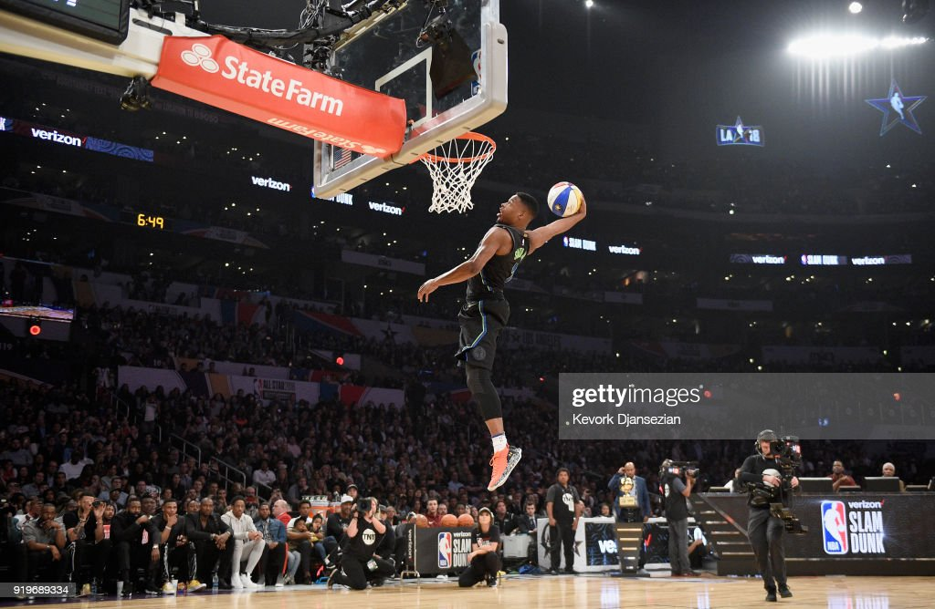 2018 Verizon Slam Dunk Contest : News Photo