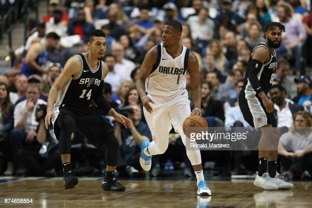 Dennis Smith Jr #1 of the Dallas Mavericks in the second half at American Airlines Center on November 14 2017 in Dallas Texas NOTE TO USER User...