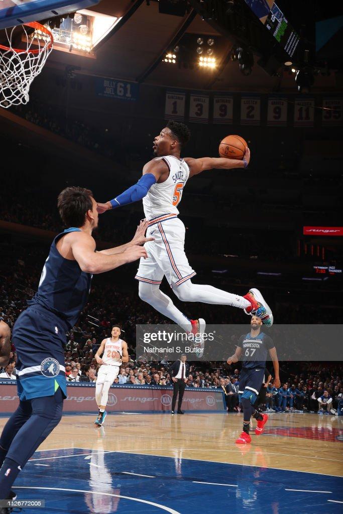 Minnesota Timberwolves v New York Knicks : Foto jornalística