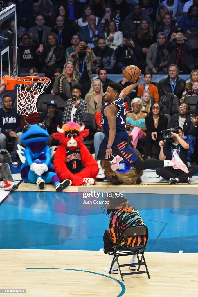 2019 AT&T Slam Dunk Contest : News Photo