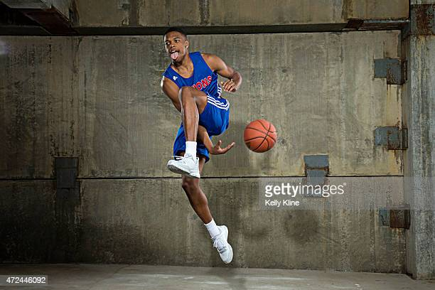 Dennis Smith Jr poses for a portrait during Adidas Nations Atlanta on May 1 2015 at the JW Marriott in Atlanta Georgia