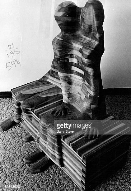 MAR 12 1974 MAR 14 1974 MAR 17 1974 Dennis Stroh's wood sculpture entitled Love Seat is part of the diversified show now at The Pinakotheka