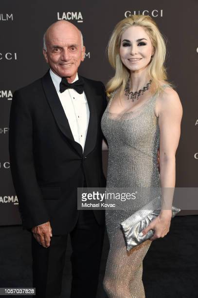 Dennis Tito and Elizabeth TenHouten attend 2018 LACMA Art Film Gala honoring Catherine Opie and Guillermo del Toro presented by Gucci at LACMA on...