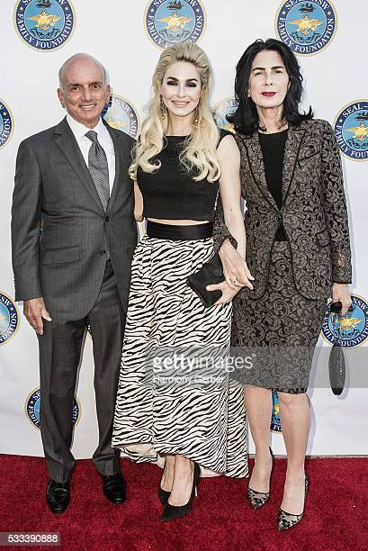 Dennis Tito Elizabeth TenHouten and guest arrive at the SEALNavy Special Warfare Family Foundation 3rd Annual Gala Dinner Arrivals on May 21 2016 in...