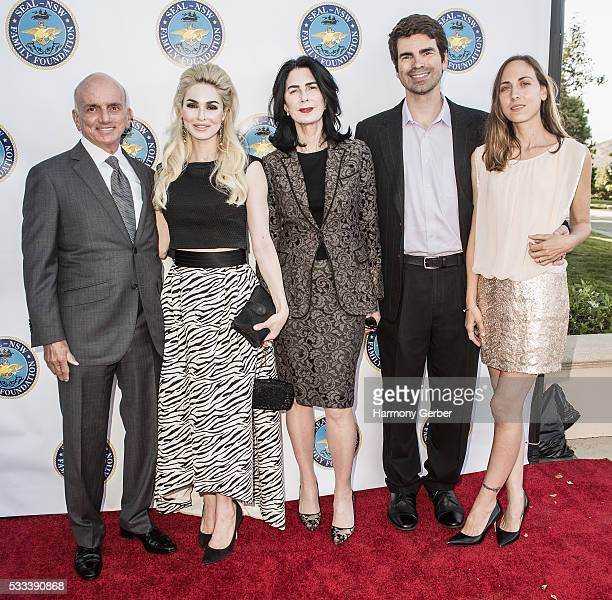 Dennis Tito Elizabeth TenHouten and guests arrive at the SEALNavy Special Warfare Family Foundation 3rd Annual Gala Dinner Arrivals on May 21 2016 in...