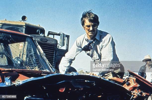 Dennis Weaver on the set of Duel