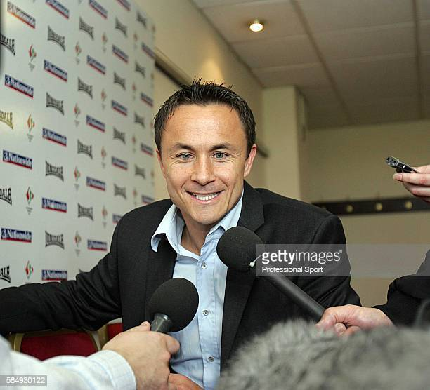 Dennis Wise is named the new Swindon Town manager at a press conference at The County Ground Swindon on May 22 2006