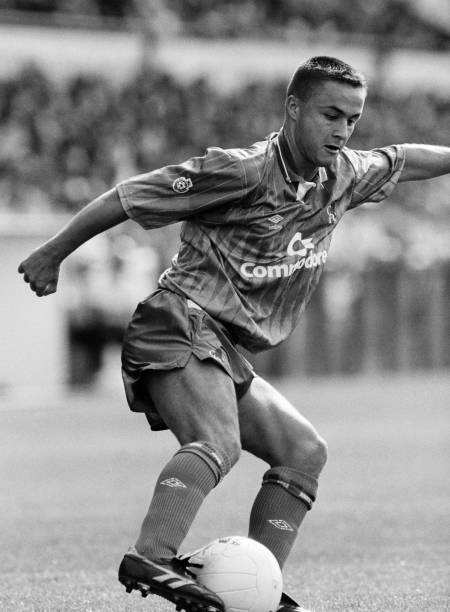 Dennis Wise of Chelsea in action, circa 1990.