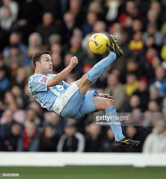 Dennis Wise of Coventry City in action during the CocaCola Championship match between Watford and Coventry City at Vicarage Road Watford on February...