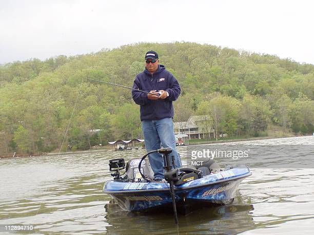 Denny Brauer fished for bass at Lake of the Ozarks near Osage Beach Missouri