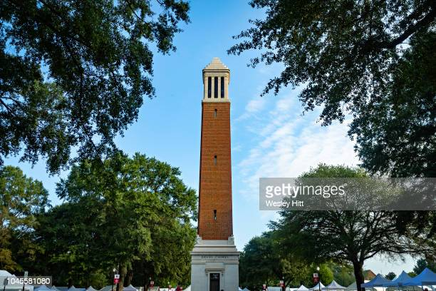 Denny Chimes on the campus of the University of Alabama before a game between the Alabama Crimson Tide and the Texas A&M Aggies at Bryant-Denny...