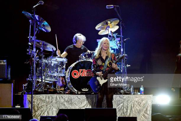 Denny Fongheiser and Nancy Wilson of Heart perform onstage during the 2019 iHeartRadio Music Festival at T-Mobile Arena on September 20, 2019 in Las...