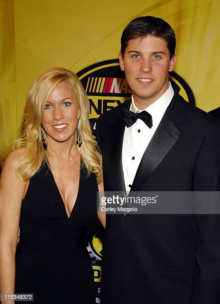 Denny Hamlin and guest during 2006 NASCAR NEXTEL Cup Series Awards Ceremony at Waldorf Astoria in New York City, New York, United States.