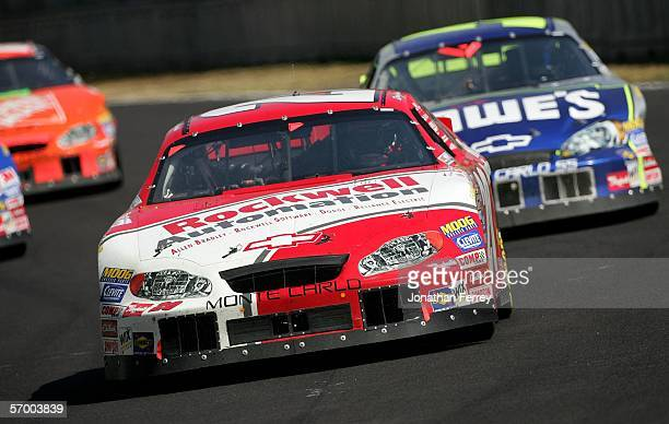 Denny Hamlin drives his Rockwell Automation Chevrolet to victory during the NASCAR Busch Series Telcel-Motorola 200 on March 5, 2006 at Autodromo...
