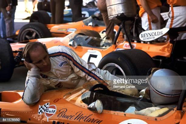 Denny Hulme, Bruce McLaren, McLaren-Ford M14A, Grand Prix of Spain, Jarama, 19 April 1970.
