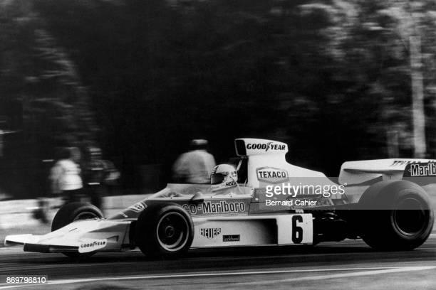 Denny Hulme McLarenFord M23 Grand Prix of Argentina Autodromo Juan y Oscar Galvez Buenos Aires 13 January 1974 Denny Hulme driving the McLarenFord...