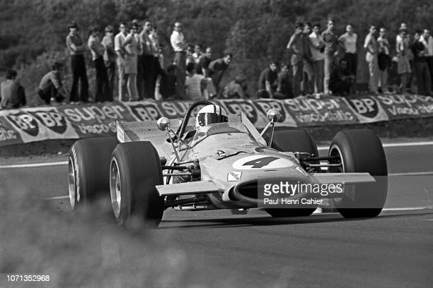 Denny Hulme McLarenFord M7A Grand Prix of France RouenLesEssarts 07 July 1968