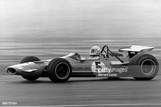 Denny Hulme McLarenFord M7A Grand Prix of Mexico Autodromo Hermanos Rodriguez Magdalena Mixhuca 19 October 1969 Denny Hulme driving the McLarenFord...