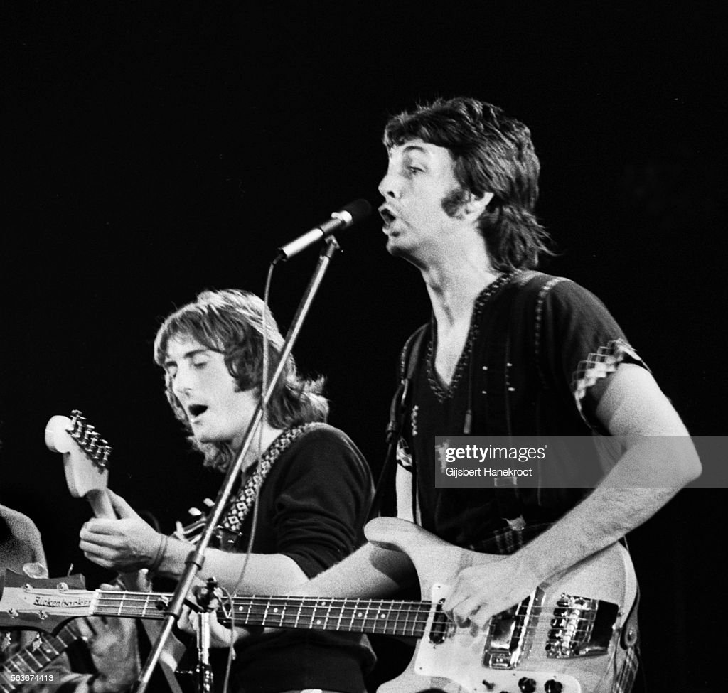 Denny Laine And Paul McCartney Of Wings Perform On Stage In Arles France 13th