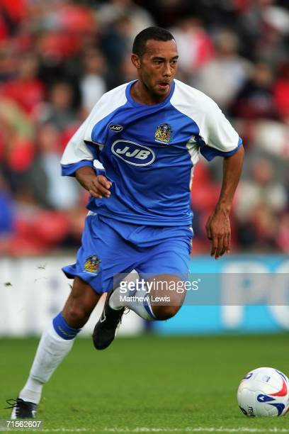 Denny Landzaat of Wigan Athletic in action during the Preseason Friendly match between Barnsley and Wigan Athletic at Oakwell on August 1 2006 in...