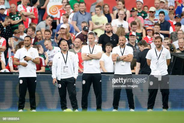 Denny Landzaat Wesley Sneijder Andre Ooijer John Heitinga Rafael van der Vaart during the Dirk Kuyt Testimonial at the Feyenoord Stadium on May 27...