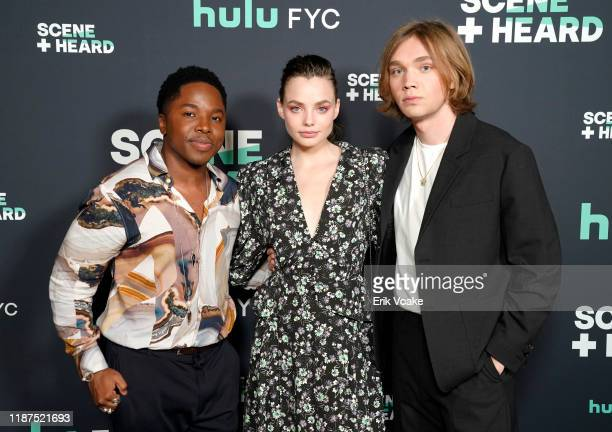 Denny Love Kristine Froseth and Charlie Plummer attend the 2019 Hulu Scene and Heard SAG Event at Pacific Design Center on November 13 2019 in West...