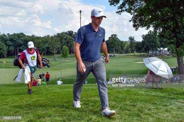 Denny McCarthy walks off the 17th hole during the final round of the John Deere Classic on July 15 2018 at the TPC Deere Run in Silvis Illinois