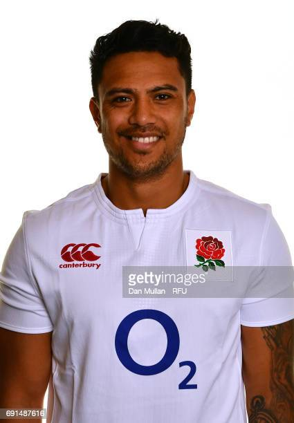 Denny Solomona of England poses for a portrait during the Argentina Tour Squad photo call at Twickenham Stadium on June 2 2017 in London England
