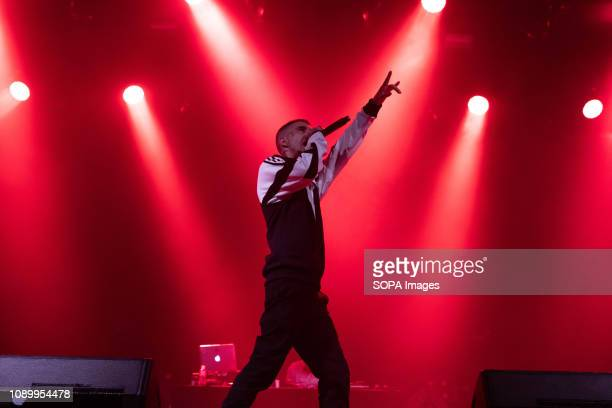 Denom, hip-hop / rap singer, seen performing at Fitur es Música during the event of the FITUR International Tourism Fair Festivals.