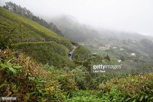 Dense crops of flax blow in the strong gusts of wind on October 22 2017 in Jamestown Saint Helena Following the introduction of weekly flights to the...