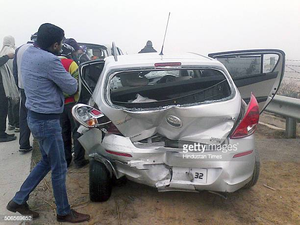 Dense fog and low visibility led to a pile-up of 25 vehicles near the under pass at Rabupura area, nearly two km before Jewar toll plaza, when a...
